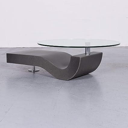 Amazoncom Ronald Schmitt Designer Couchtisch Glas Grau Tisch