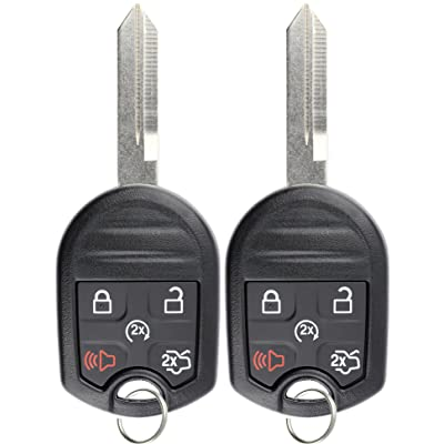 KeylessOption Keyless Entry Remote Control Fob Uncut Blank Ignition Car Key Remote Start for CWTWB1U793 (Pack of 2): Automotive