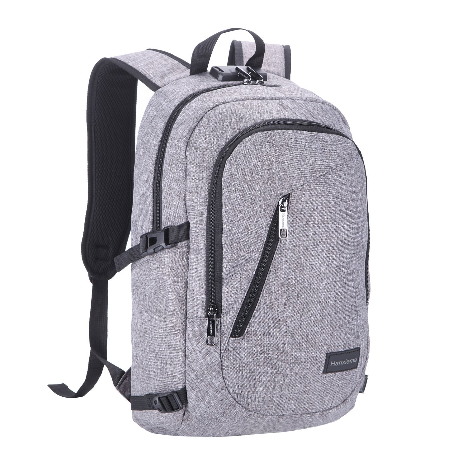 a57c666cee3 durable service Hanxiema Travel Laptop Backpack,Business Laptop Backpack  with USB Charging Port ,Water