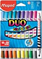 Maped Duo Color'Peps - Rotulador de punta fina (20 colores)