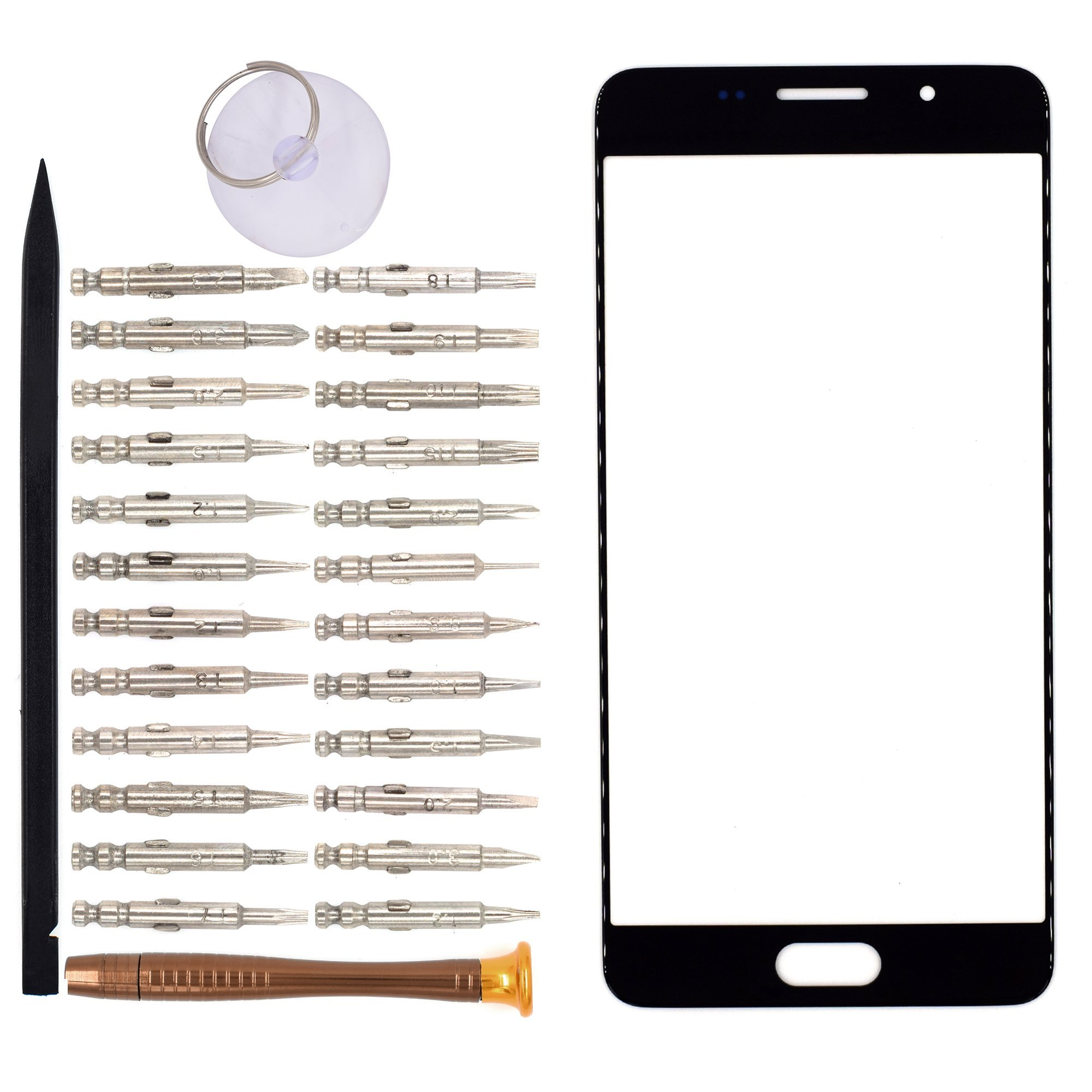 Vidrio Frente para Samsung Galaxy A5 2016 negro [GOODYITOU]