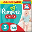 Pampers Pants Diapers, Size 3, Midi, 6-11 kg, Jumbo Pack, 60 Count