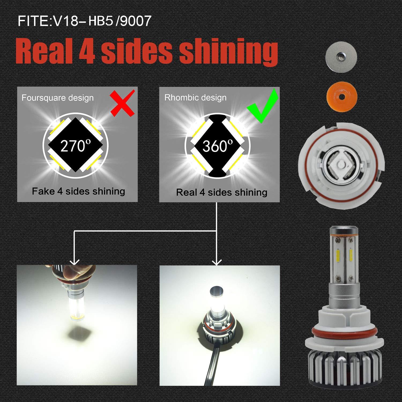 3000K 6000K 12000LM Super Bright 9007 HB5 LED HeadLight Bulbs Conversion Kit 100W Full Lights High Beam 360 Degree Lighting for Car Lamp Replacement-Amber -2 Pack 12months Warranty USA SUPPER MART 5559076847 //White //Blue 8000K