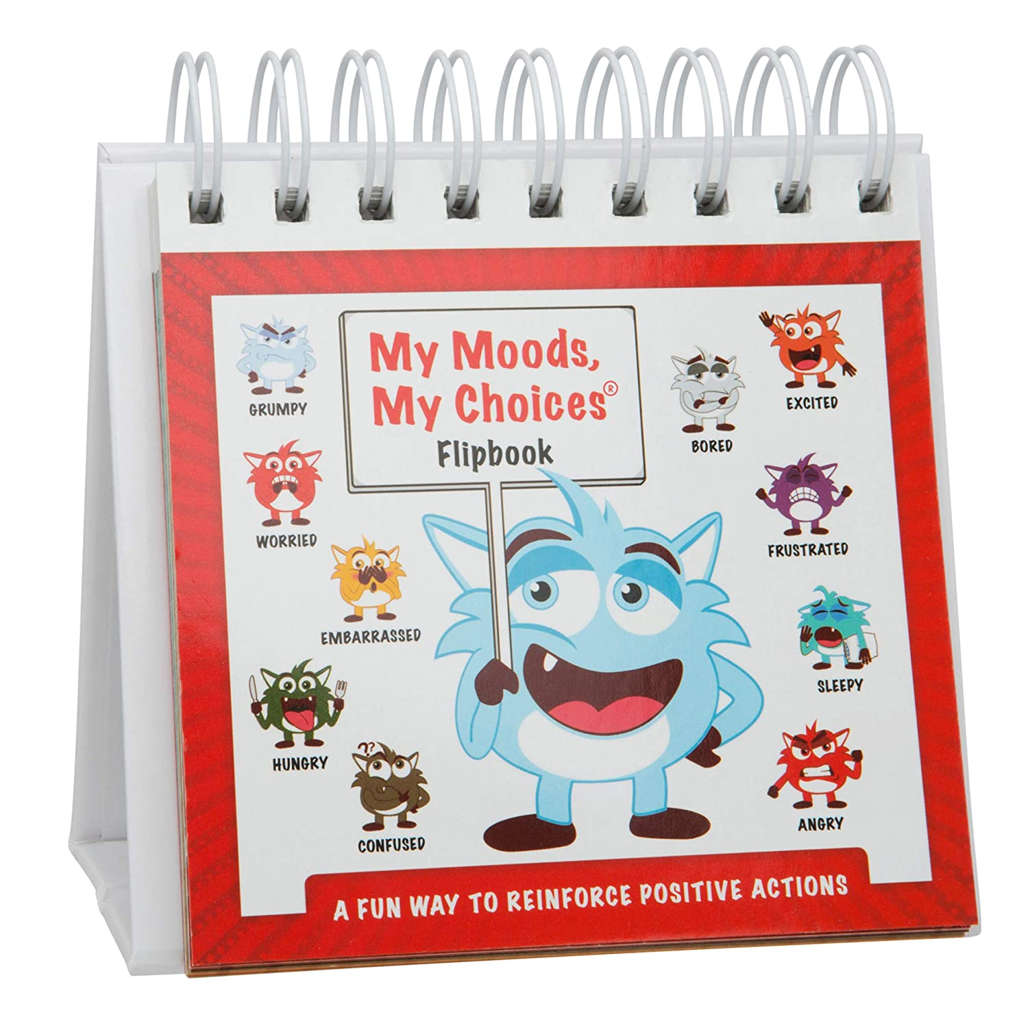 My Moods My Choices Flipbook for Kids; 20 Different Moods Emotions; Help Kids Identify Feelings and Make Positive Choices; Laminated Pages