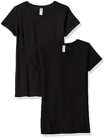 1b068d42cb7e8e Amazon.com  Clementine Big Girls  Everyday T-Shirts Crew 2-Pack ...