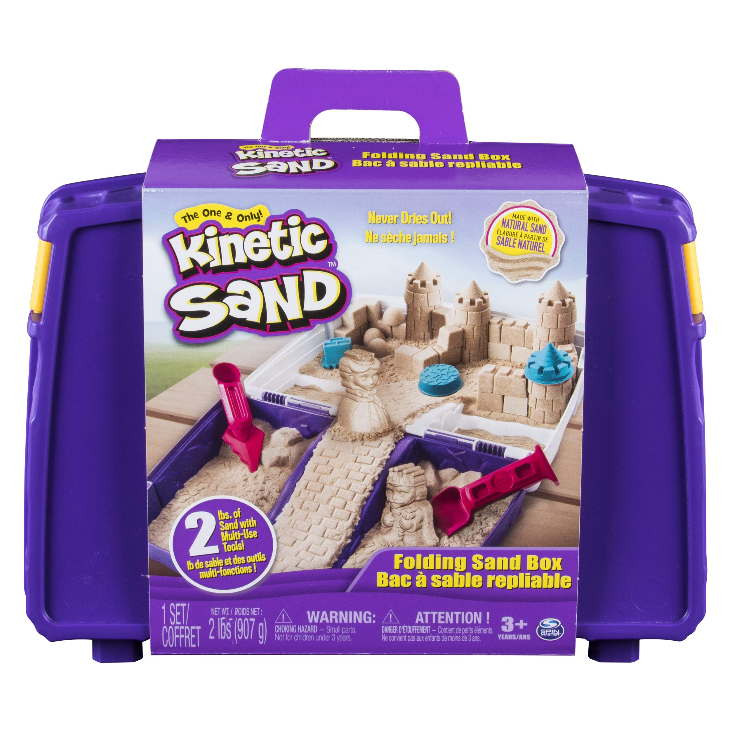The One and Only Kinetic Sand, Folding Sand Box with 2lbs of Kinetic Sand by Kinetic Sand