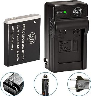 BM Premium NB6L, NB-6L, NB-6LH Battery and Charger Kit for Canon PowerShot S120, SX170 IS, SX260 HS, SX280 HS, SX500 IS, SX510 HS, SX520 HS, SX530 HS, SX540 HS, SX600 HS, SX610 HS, SX700 HS, SX710 HS, ELPH 500 HS, D10, D20, D30 Digital Camera