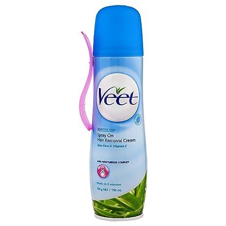 Veet Crema Depilatoria en Spray Piel Sensible - 150 ml