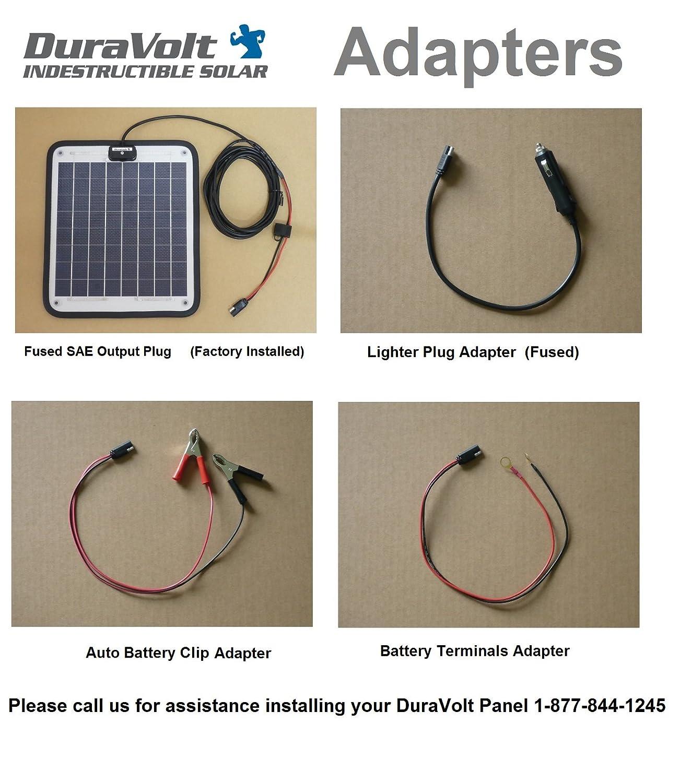 Duravolt Marine Solar Panel Battery Charger 83 Watt 12 Volt Wiring Tender With Charge Controller Garden Outdoor