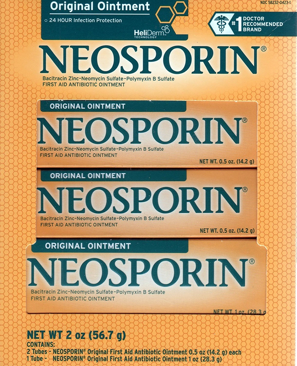 Neosporin Original First Aid Antibiotic Ointment Combo Pack, 2oz