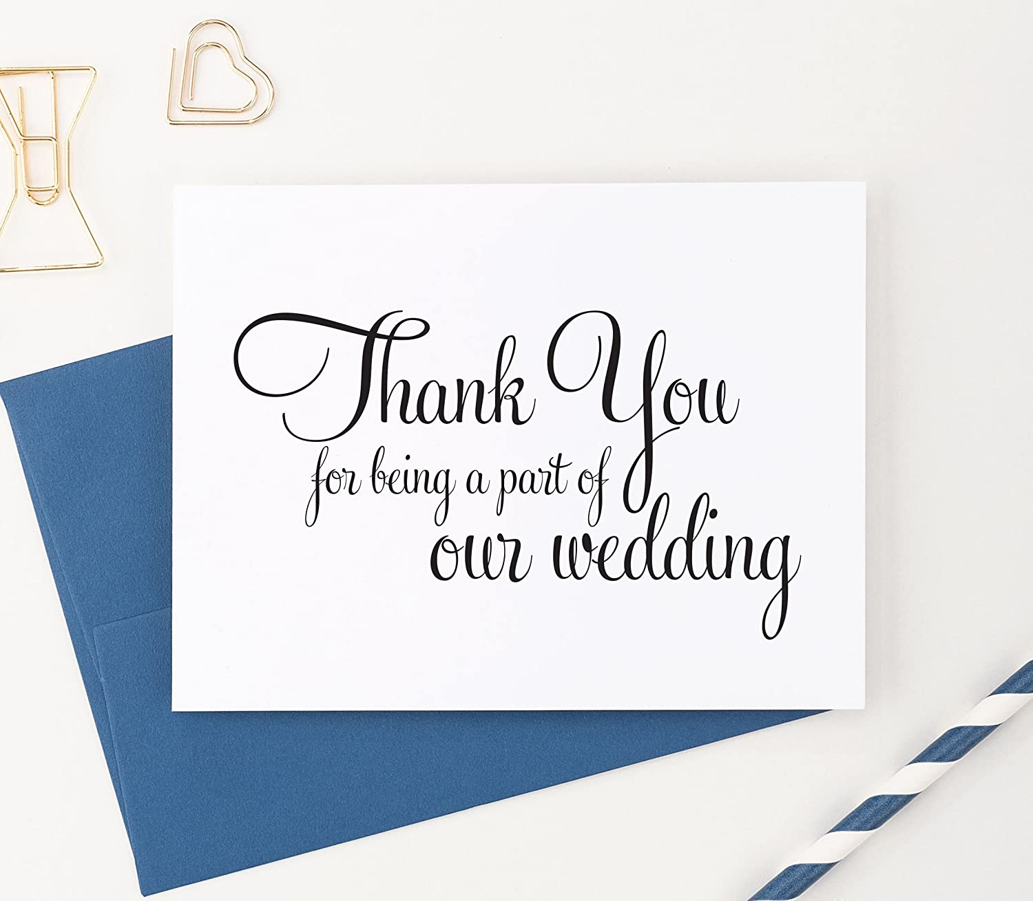 Amazoncom Wedding Thank You Cards Set Thank You For Being A Part