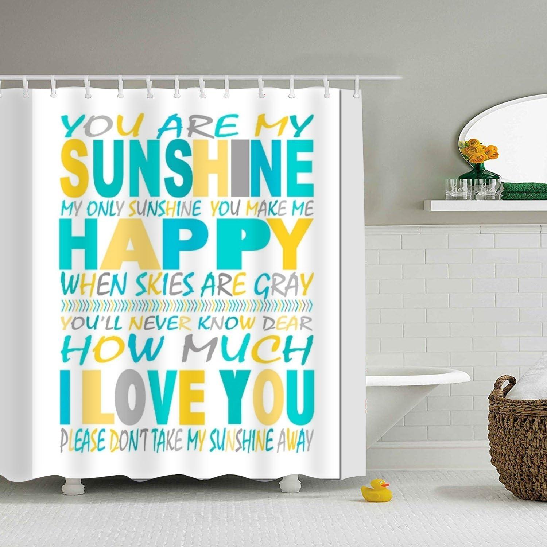 Amazon.com: WANL You are My Sunshine Shower Curtain Bath