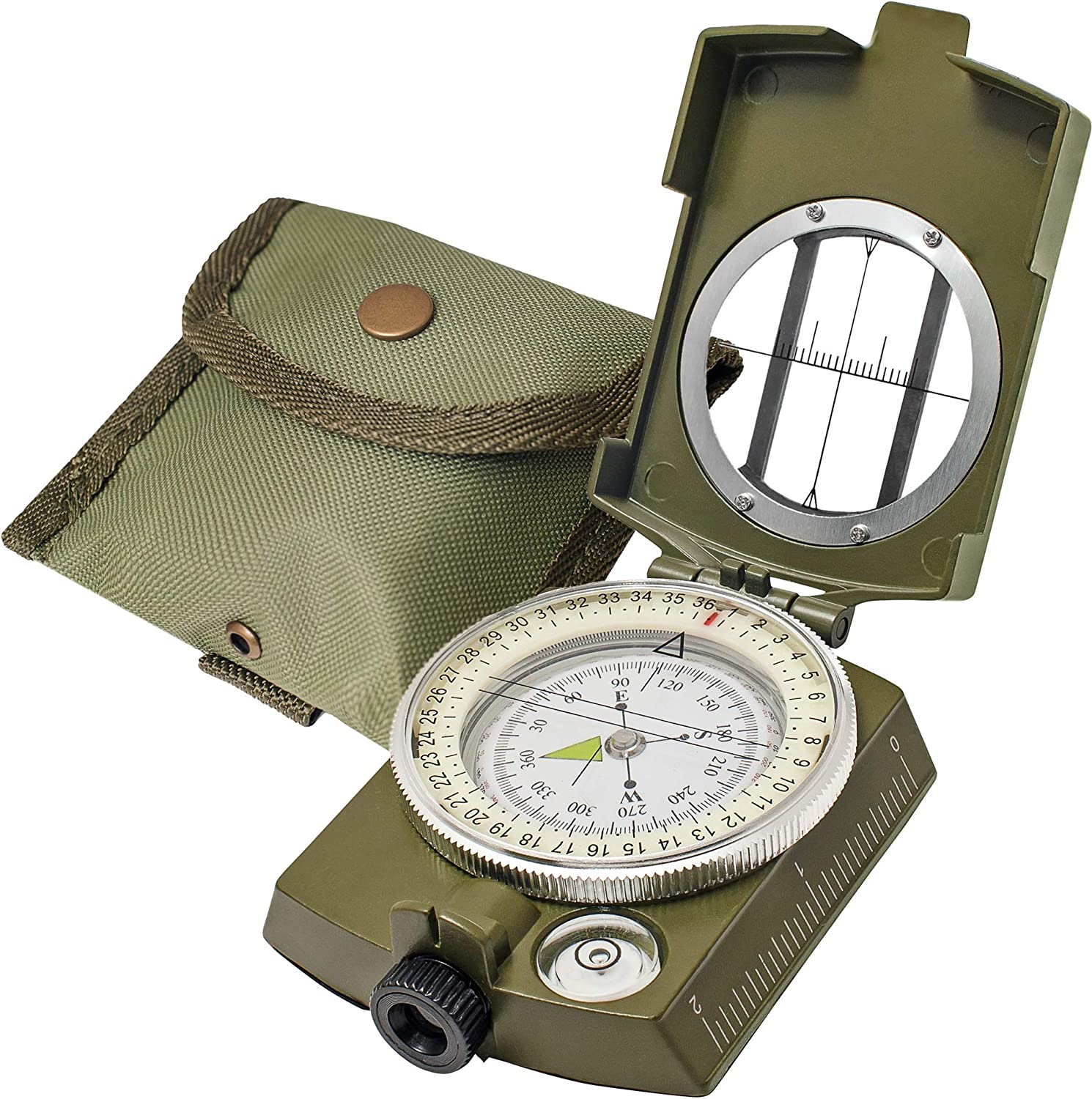 Plast Lensatic Compass Military Camping Hiking Style Survival Marchi SG
