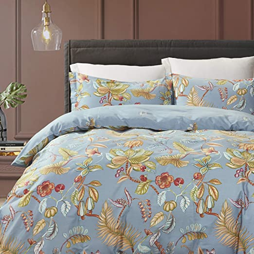 Japanese Floral Reversible Polycotton Duvet Quilt Cover Bedding Set Pillow Case