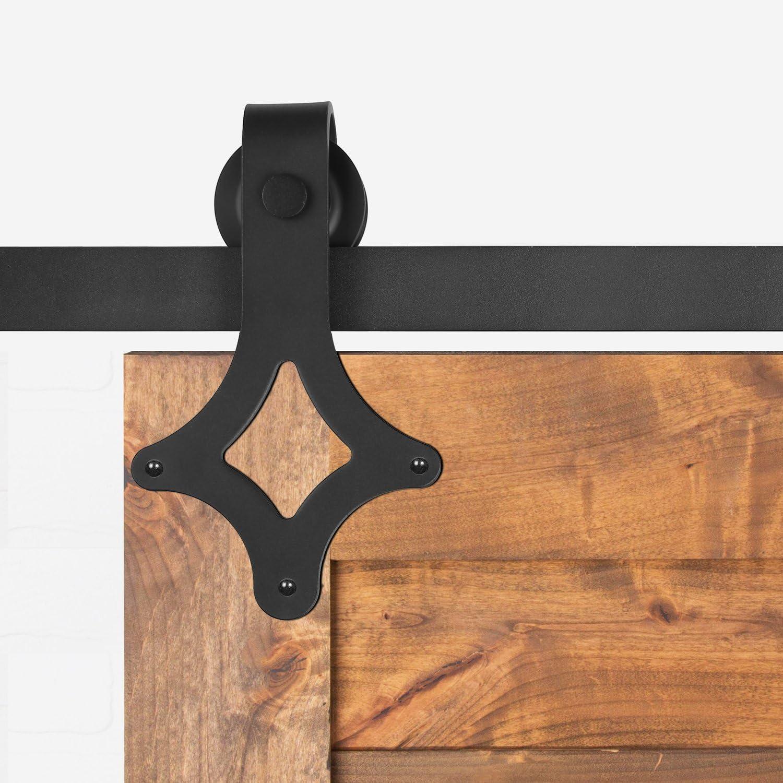 Sliding Door of plating Accessory Kit For The Door Of Home Maximum Load 120/kg Black black Track for Sliding Door