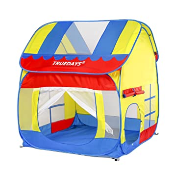 Amazon.com Truedays Kids Outdoor Indoor Fun Play Big Tent Playhouse 55.1x47.2-Inch Toys u0026 Games  sc 1 st  Amazon.com & Amazon.com: Truedays Kids Outdoor Indoor Fun Play Big Tent ...
