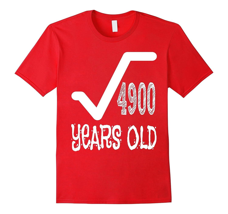 70 Years Old 70th Birthday Men Gift Dude Novelty T-Shirt-FL