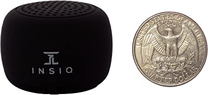 Amazon Com World S Smallest Portable Bluetooth Speaker Great Audio Quality For Its Size 30 Feet Range Photo Selfie Button Answer Phone Calls Compact Compatible With Latest Phone Software Black Home