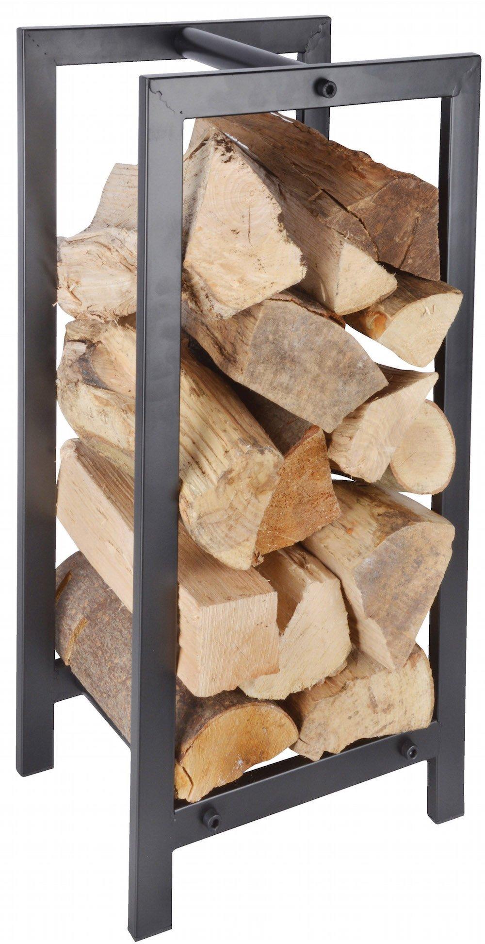 Esschert Design FF232 Wood Storage/Carrier - Powder Coated Steel