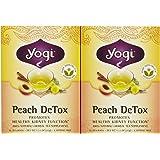 Yogi Tea Peach Detox, Herbal Supplement, Tea Bags, 16 ct, 2 pk