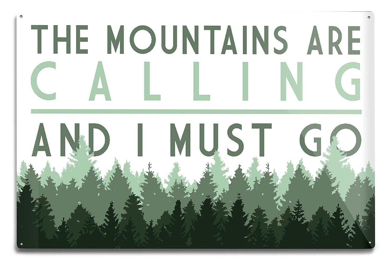 割引発見 The Mountains – Are Metal Calling and I must go Sign – Pine Trees Canvas Tote Bag LANT-83606-TT B076PP9BJS 12 x 18 Metal Sign 12 x 18 Metal Sign, 朝日町:9ab870fc --- 4x4.lt