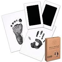 Baby Footprint & Handprint Inkless Ink Pad - 2-Pack Clean Touch Hand and Foot print Keepsake Ink Pads - Paw Stamp Print…