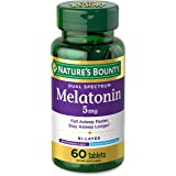 Melatonin by Nature's Bounty, 100% Drug Free Quick Release and Extended Release Sleep Aid, Dietary Supplement, Promotes Relax