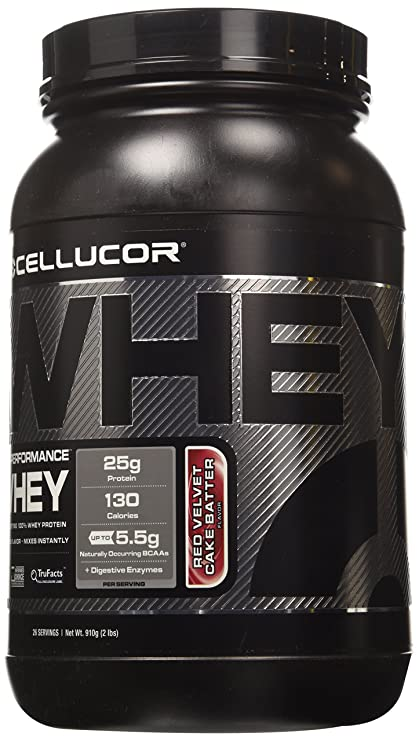 Cellucor Cor-Performance Whey Fast Digesting 100% Whey Protein 26 Servings, Red Velvet