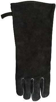 Esschert Grill Handschuh aus Leder 19 x 1,9 x 41 cm mit Hängeöse in schwarz