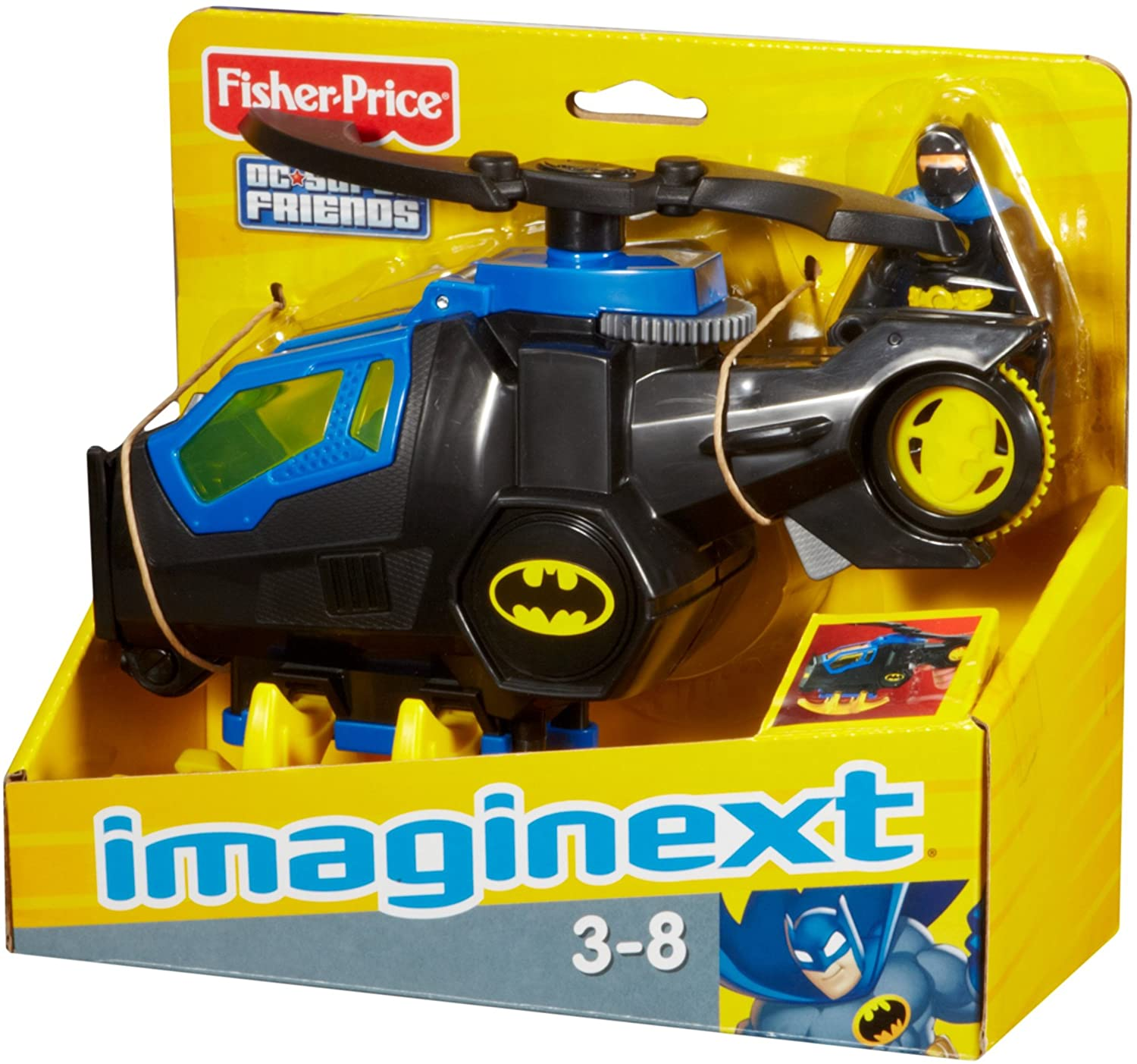 Fisher-Price Imaginext DC Super Friends, Batcopter [ Exclusive]
