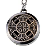 Celtic Cross Pewter Aroma Aromatherapy Essential oil Diffuser Necklace locket Pendant Jewelry …