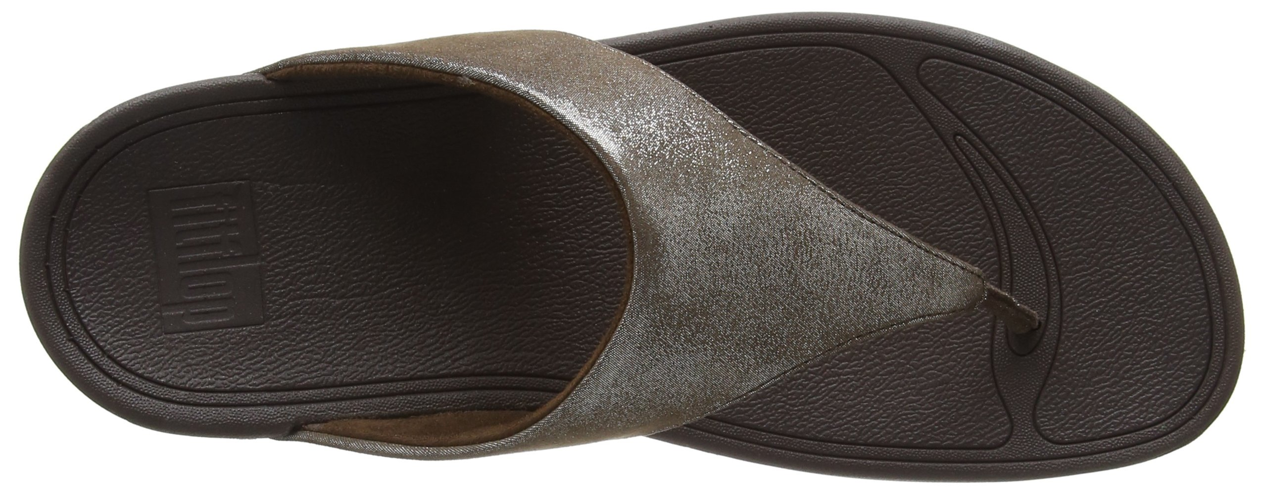 FitFlop Women's Lulu Shimmersuede Flip Flop, Bronze, 9 M US by FitFlop (Image #8)