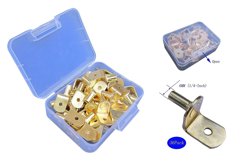 6mm livr/é dans une bo/îte de rangement armoires placards et /étag/ères /à trous supports de fixation pour meubles Lot de 36 taquets en forme de L