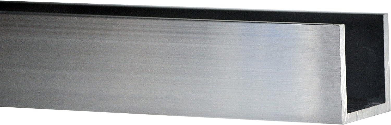 Profil /à U aluminium 6060t6/mm 60/x 40/x 4/Longueur = 0/m