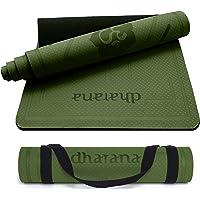 Dharana Yoga Mat Non Slip Pro Eco Vriendelijk TPE Dik 6mm Met Draagband - Mat met Uitlijning Voor Sport – Workout Mat…