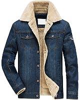 herren winter warm denim jeansjacke mit fell jacke mantel winterjacke wintermantel f r winter. Black Bedroom Furniture Sets. Home Design Ideas