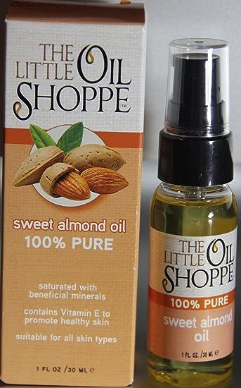 Amazon.com: The Little Oil Shoppe Sweet Almond Oil 100% Pure 1 Fl ...