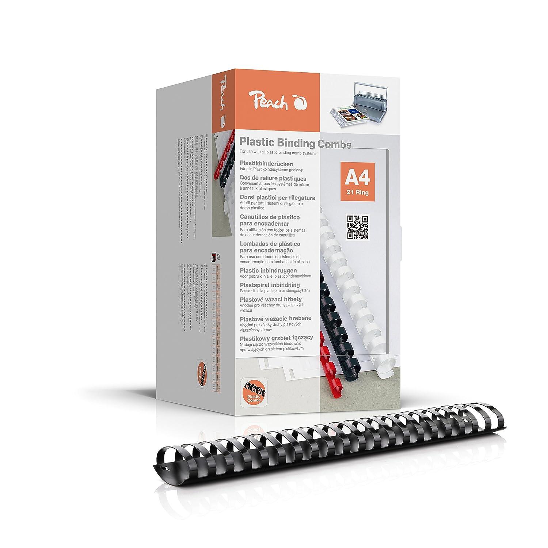 format A4 capacit/é de reliure 500/pages Noir Lot de 50 reliure plastique Peach pb450 02/Reliure