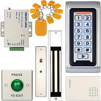 10x Lector De Tarjeta De Identificación Rfid Teclado Impermeable Puerta de control de acceso RFID tarjeta mandos de