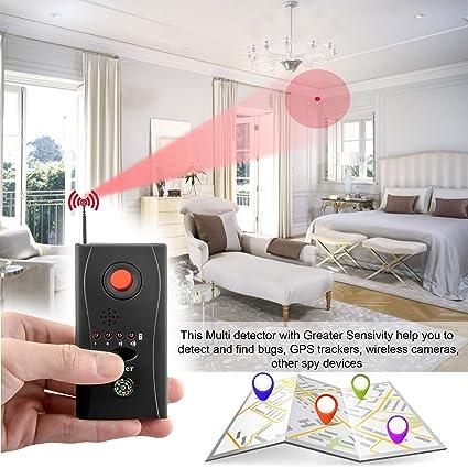 Wireless Bug Detector Anti-Spy Camera Detector Full-Range Portable Tracker  for Hidden Cameras