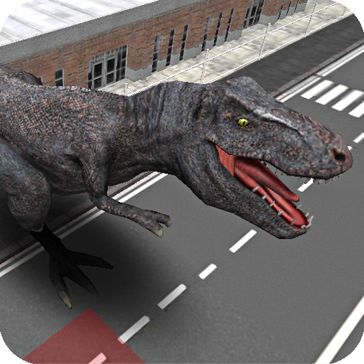 Police Chasing Dinosaurs Attacking - City Flappy