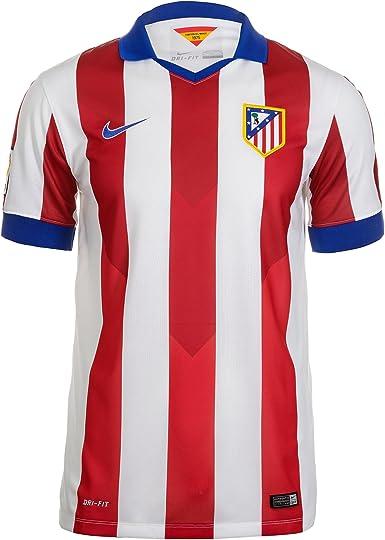 NIKE ATM SS Home Stadium JSY - Sudadera Atlético de Madrid para Hombre, Color Rojo, Talla L: Amazon.es: Zapatos y complementos