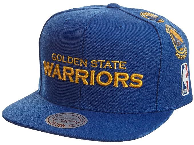 3a14dd45efbaf Amazon.com  Mitchell   Ness NBA Team Logo History Flat Brim Snapback Cap  (Adjustable