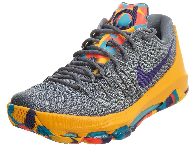 Nike Herren KD 8 Basketballschuhe, Talla  42.5 EU|Gris / Morado / Gris / Azul (Wlf Gry / Crt Prpl-cl Gry-bl Lgn)