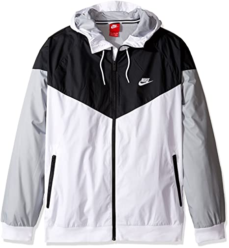 d56b8a597 Nike Mens Windrunner Hooded Track Jacket White/Black/Wolf Grey 727324-101  Size Small: Amazon.in: Sports, Fitness & Outdoors
