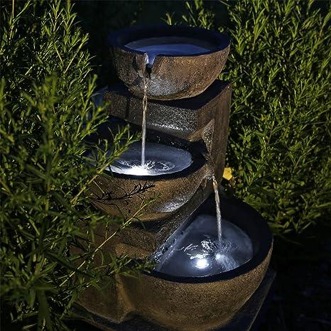 Clgarden Fontaine Solaire Nsp12 Avec Batterie Et Eclairage