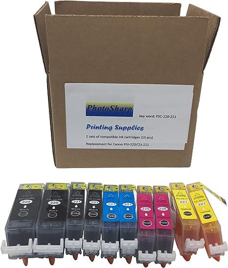 CC-221BK//C//M//Y lot of 5 New Printer Ink Cartridges CP-220BK Canon Pixma /&