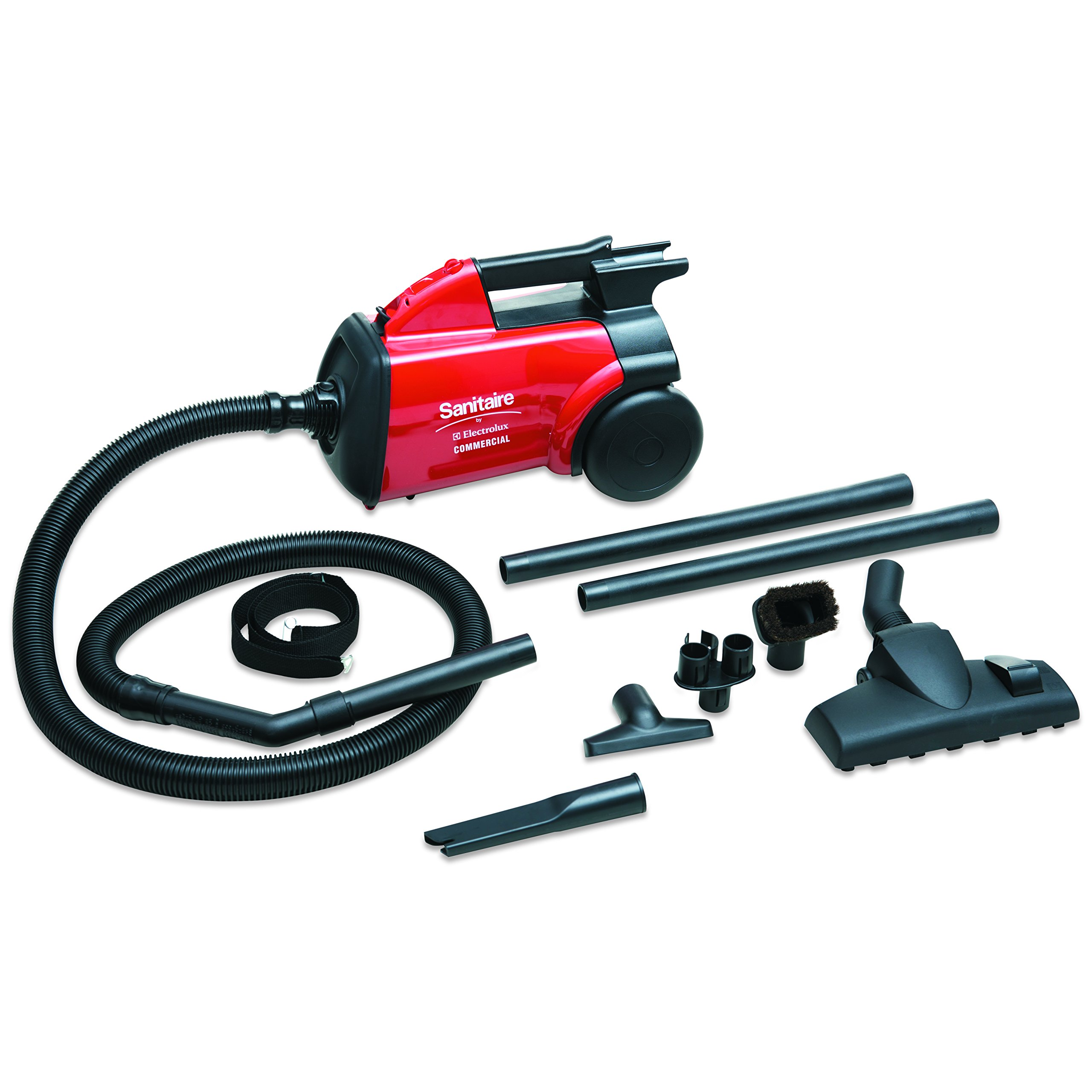 Sanitaire SC3683B EXTEND Canister Vacuum, 10 lb, Red by Sanitaire