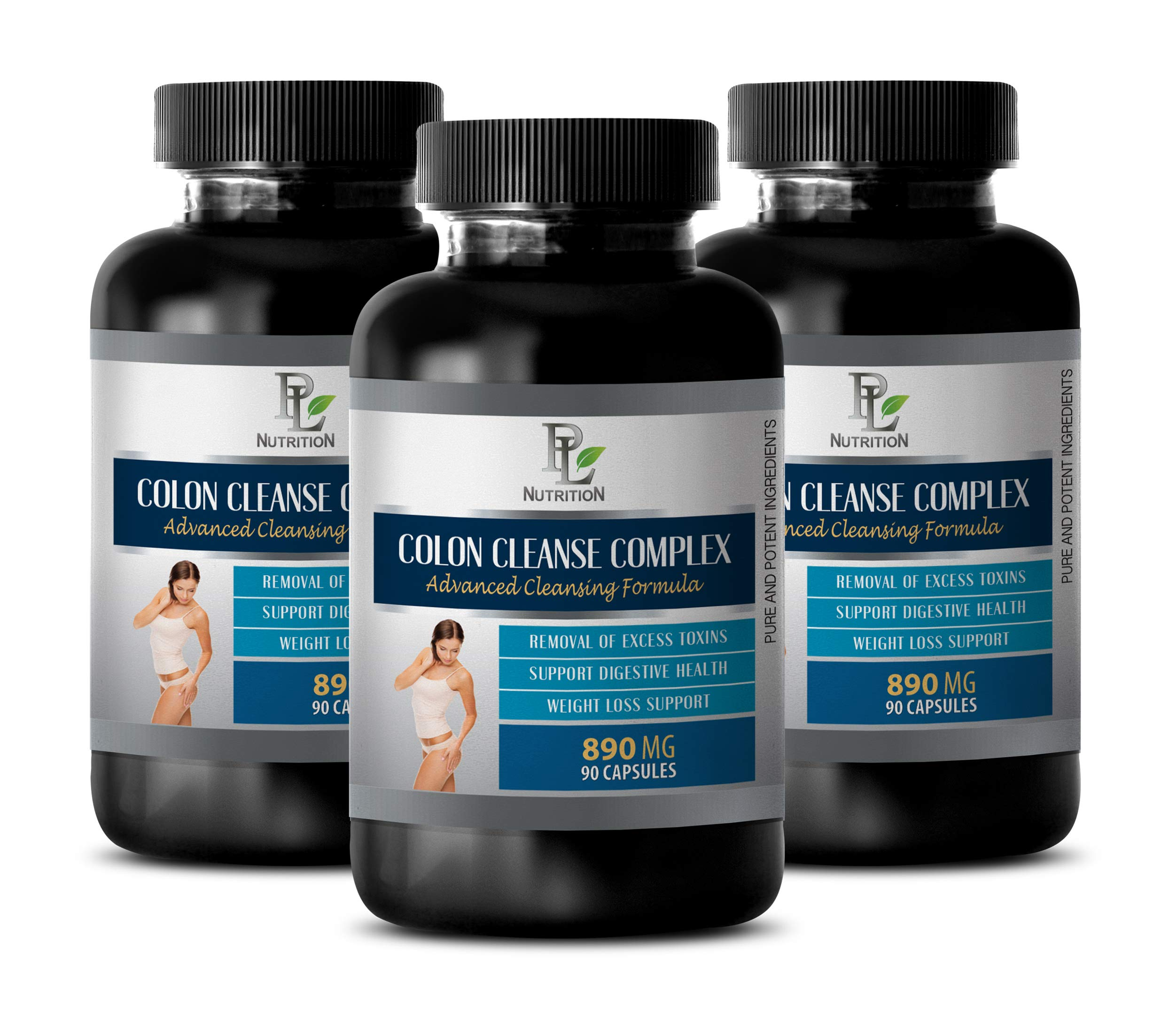 Colon Super Cleanse - Colon Cleanse Complex - Advanced Cleansing Formula - Licorice Root Pills - 3 Bottles 270 Capsules