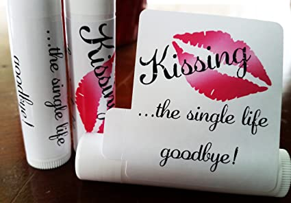 12 bridal shower lip balms bridal shower party favors kissing the single life goodbye